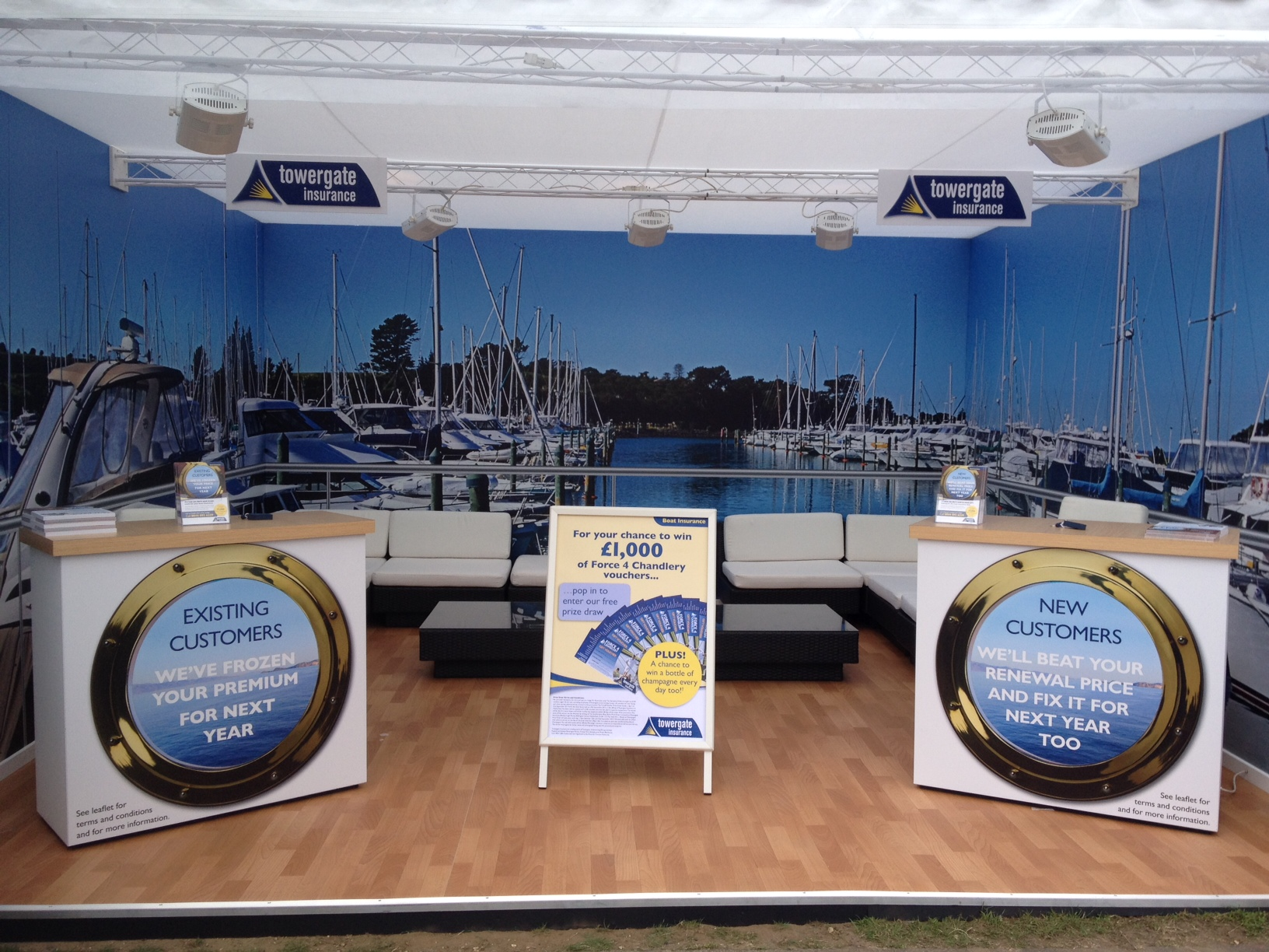 Towergate Insurance exhibition and display solutions by Blaze Communication